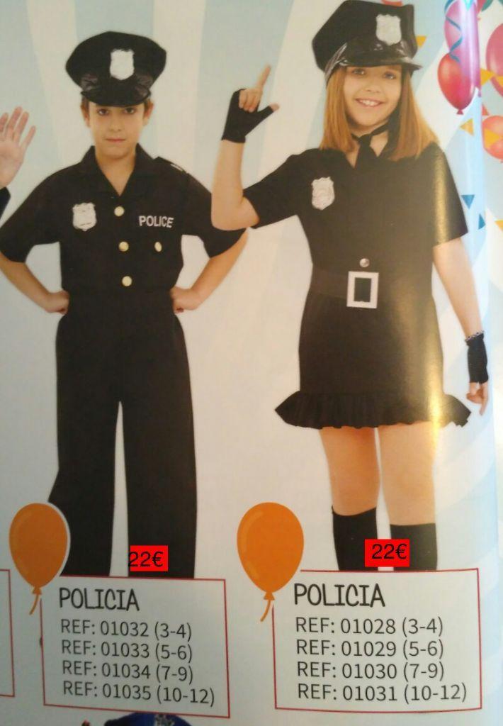 disfraz policia niños