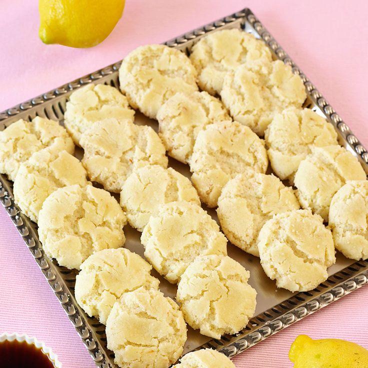 Drömmar är en klassisk småkaka som här har fått smak av fräsch citron.