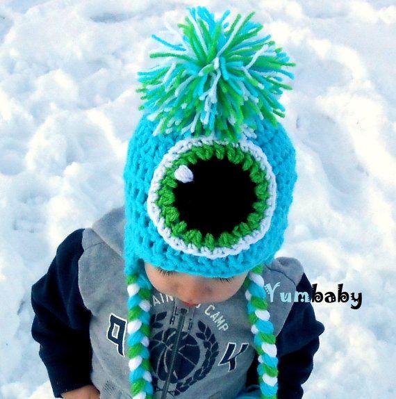 Monster hat!!!  #monster #hat #beanie #knit #wanelo #etsy