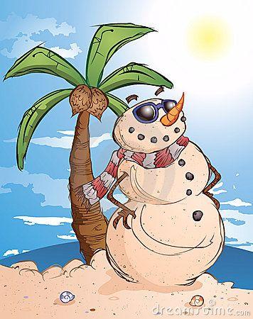 """Sand"" Snowman"