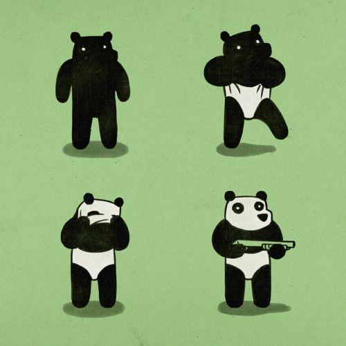 Bear goes panda