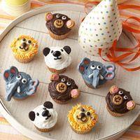 More cute zoo cupcakes
