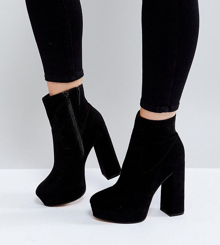 ASOS ESCAPE Wide Fit Platform Boots – Black – Selena Cheang