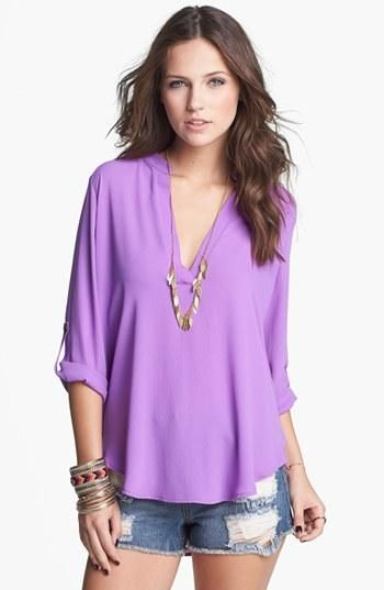 Need this rolled sleeve shirt in every color!