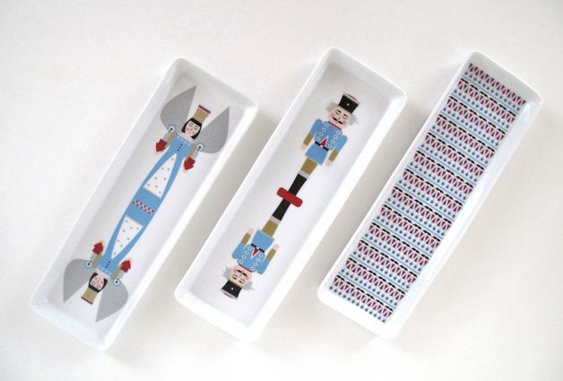 "via en.dawanda.com Christmas Decorations – Pastry Plates ""Nutcracker"" / ""An... – a unique product by avaundyves on DaWanda"