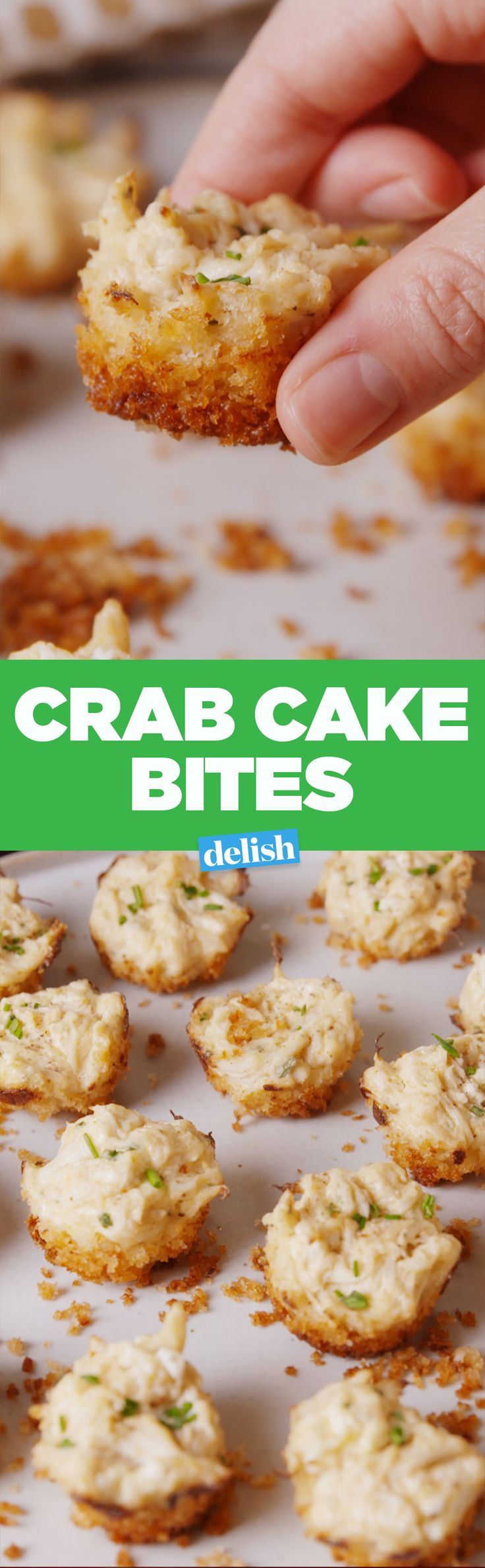 These Crab Cake Bites will be the first thing to go at your holiday party. Get the recipe on Delish.com.