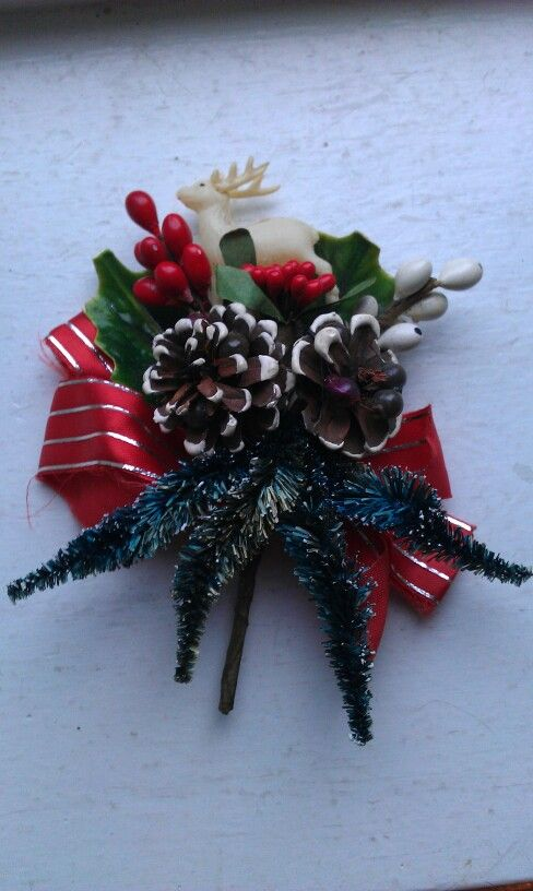 Anazing Christmas broche, also from Style Me Betty.