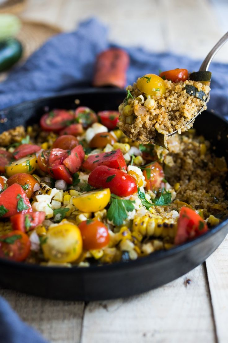 baked quinoa with charred corn and zucchini food just veggies csa ...