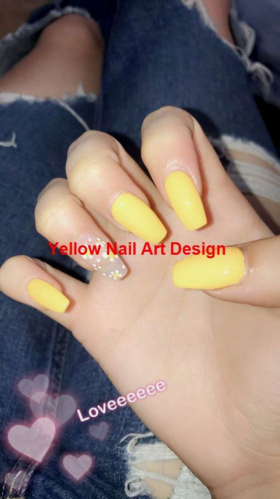 45 Stunning Yellow Nail Designs for 2019   – Yellow Nails