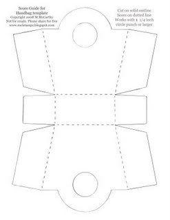Bucket handbag or Purse Box template: Template & Printable Patterns - Splitcoaststampers