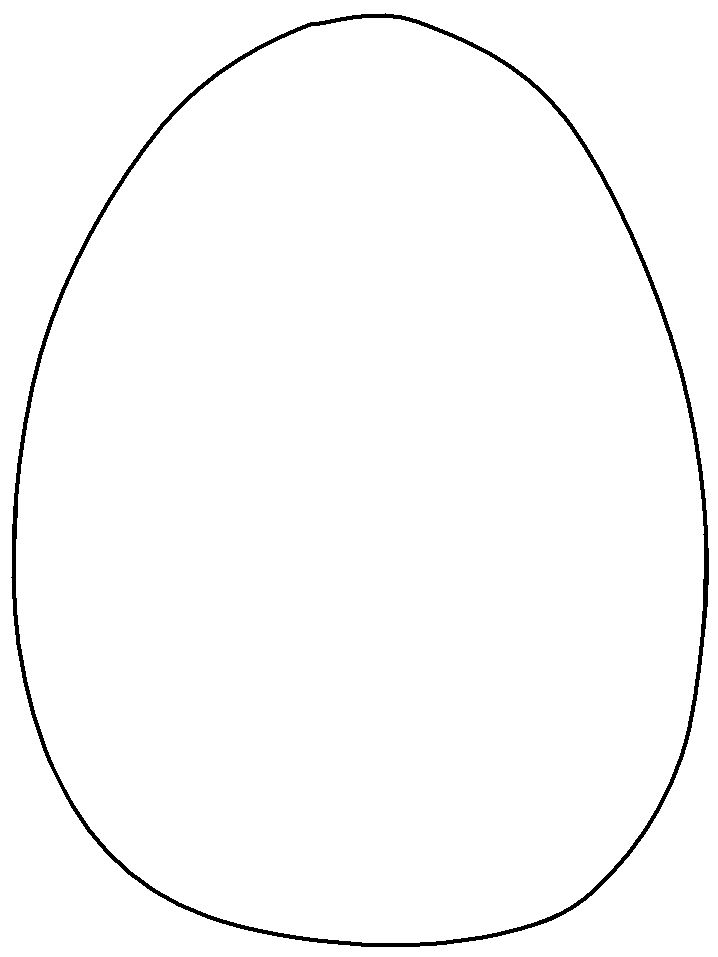 blank egg coloring pages - photo#47
