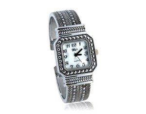 Tanboo Square Dial Steel Band Women's Wrist Watch Bracelet (White) by Tan Watches. $9.99. Style:casual. Dial Shape:square. Display Type:analog. Movement:electronic movement. Gender:women's watch. Gender:women's watchStyle:casualDisplay Type:analogMovement:electronic movementDial Shape:squareDial Color:whiteCase Material:stainless steelBand Material:steelBand Color:silverHands:an hour hand,a minute hand and a second handOthers:bracelet design with stylish pattern