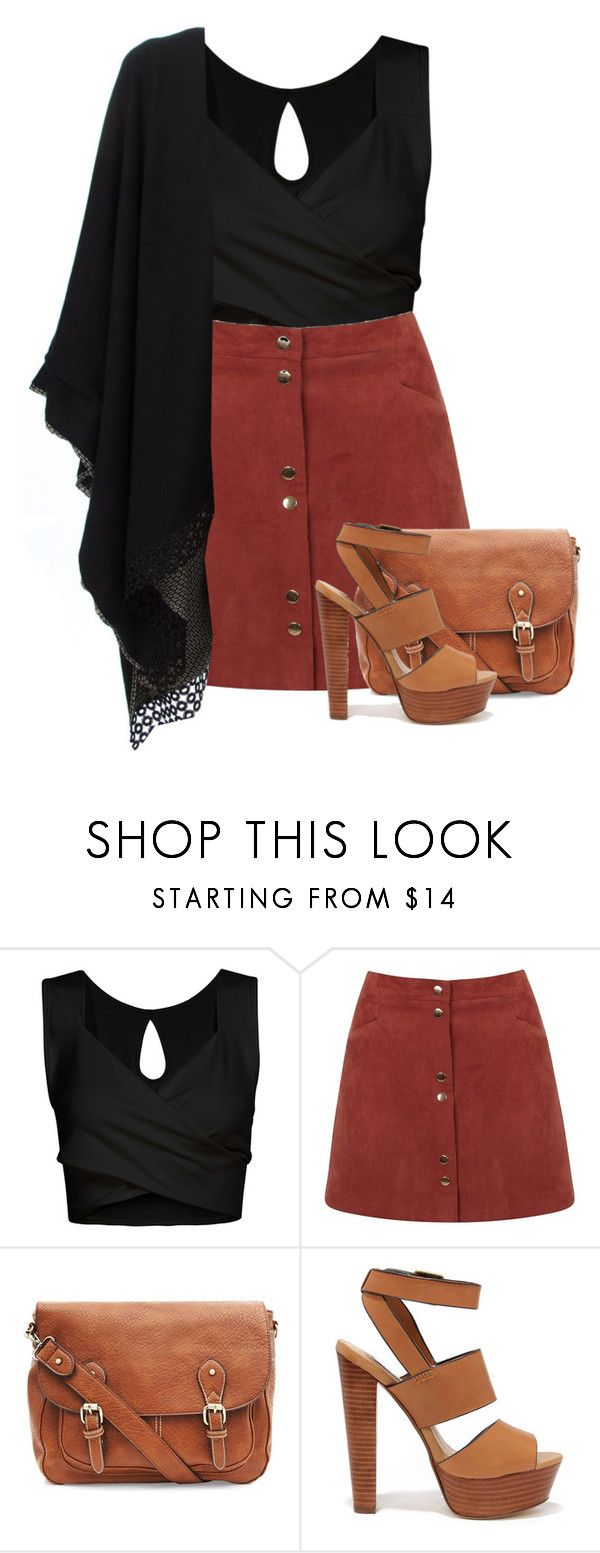 """Senza titolo #804"" by blackflowerblossom ❤ liked on Polyvore featuring Miss Selfridge, Steve Madden and Antonia Zander"