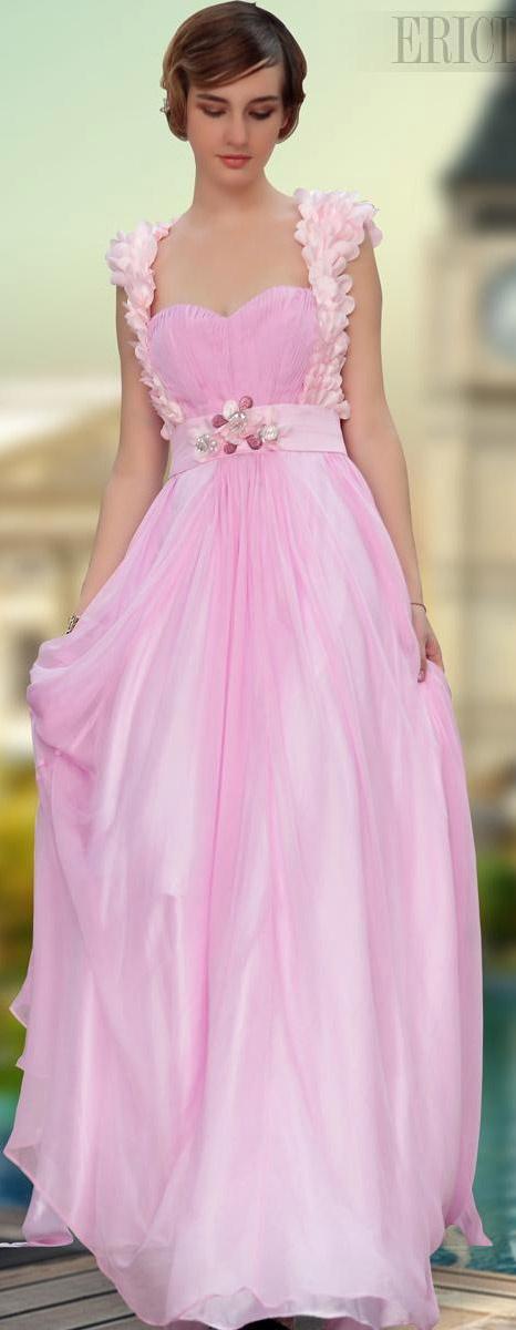 Gorgeous A-Line Floor-Length Spaghetti Strap Prom/Evening Dress www.ericdress.com