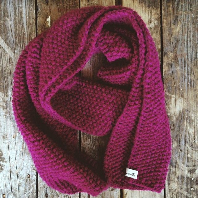 Lovely scarf, saturated colour, made by Awesomeknits