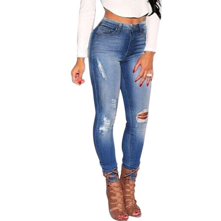 Cheap 2016 Nuevo 2017 Señoras de La Manera del Algodón Caliente Pantalones de Mezclilla Stretch Womens Rodilla Bleach Ripped Skinny Jeans Denim Jeans Para Mujer, Compro Calidad Pantalones vaqueros directamente de los surtidores de China: 2016 Nuevo 2017 Señoras de La Manera del Algodón Caliente Pantalones de Mezclilla Stretch Womens Rodilla Bleach Ripped Skinny Jeans Denim Jeans Para Mujer