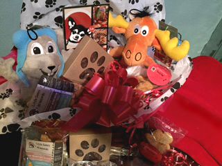 Rocky & Bullwinkle Pet Valentine Gift Basket With 100% Organic Pet Treats, using only the Finest Human Grade Ingredients Always FREE Shipping at Little Sadie's All Naturals!