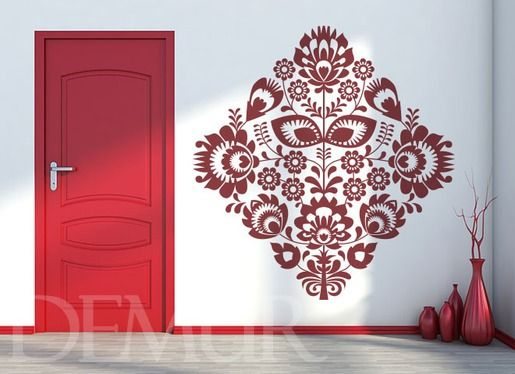 Wzór ukryty w rombie - Natura - Naklejka na ścianę - Demur