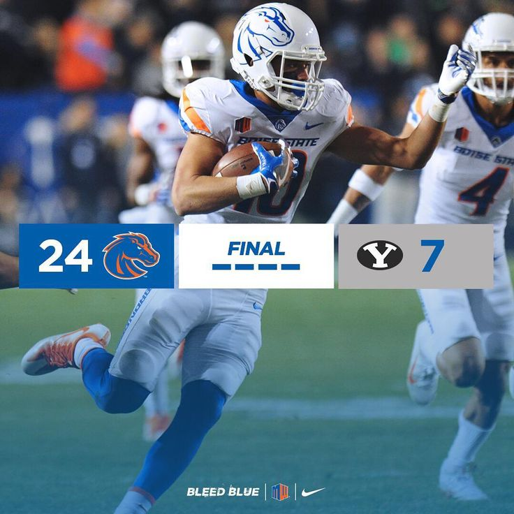 """BRONCOS WIN! Boise State scores 24-straight points to beat the BYU Cougars for win number three on…"""