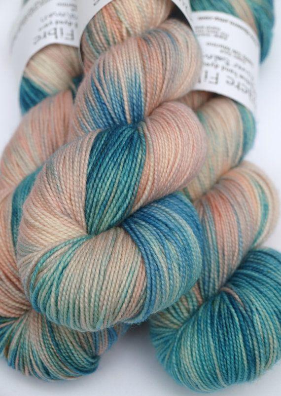 Discounted: 100% Superwash Merino, Hand Dyed Fingering/Sock Yarn, River Salmon