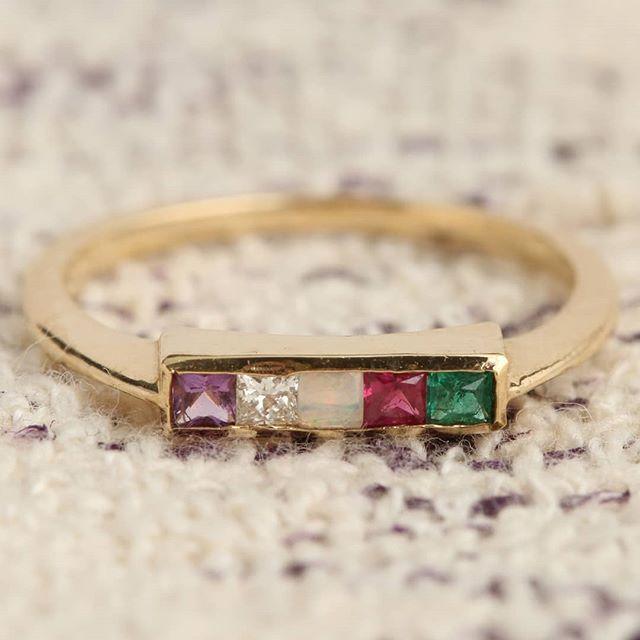 Stunning Emerald Amethyst Ruby Bracelet Wedding Engagement Anniversary Gift