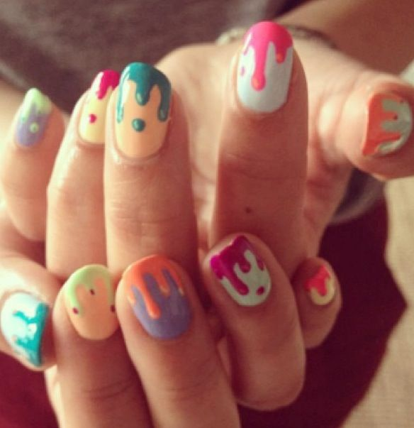 53 best dripping paint nail art images on pinterest dripping drip nails prinsesfo Choice Image