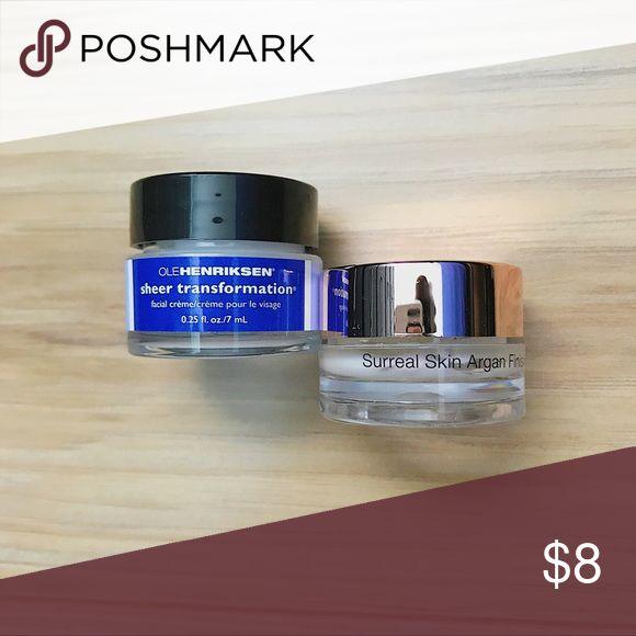 Ole Henriksen and Josie Maran NWT trial size Ole Henriksen Sheer Transformation Facial Creme and Josie Maran Surreal Afghan Skin Finish Sephora Makeup