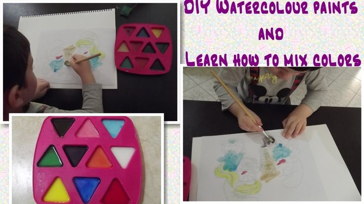 DIY Watercolour paints and learn how to mix colors - Νερομπογιές και μίξ...