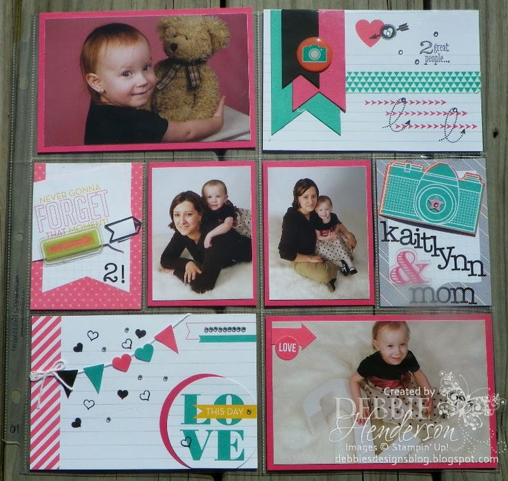 My first Stampin' Up! Project Life page. How fun to create pocket scrapbook pages with Project Life! Debbie Henderson, Debbie's Designs.