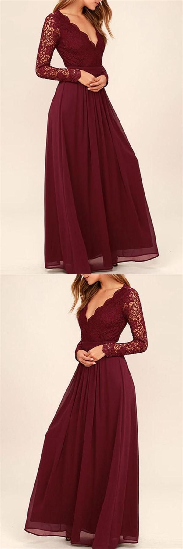 Bridesmaid Dresses,Bridesmaid Gowns,Long Sleeves Prom Dresses,Mother Of The Bridal Dresses,Chiffon Dresses,Burgundy Bridesmaid Dresses,Long Bridesmaid Dresses,Cheap Bridesmaid Dresses,V-neck Bridesmaid Dresses,Backless Bridesmaid Dresses