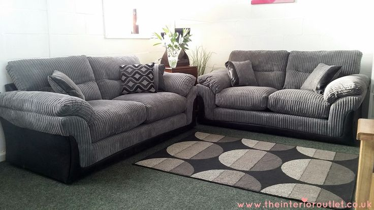 dfs langley grey chunky cord sofa 3 beautiful bargain. Black Bedroom Furniture Sets. Home Design Ideas