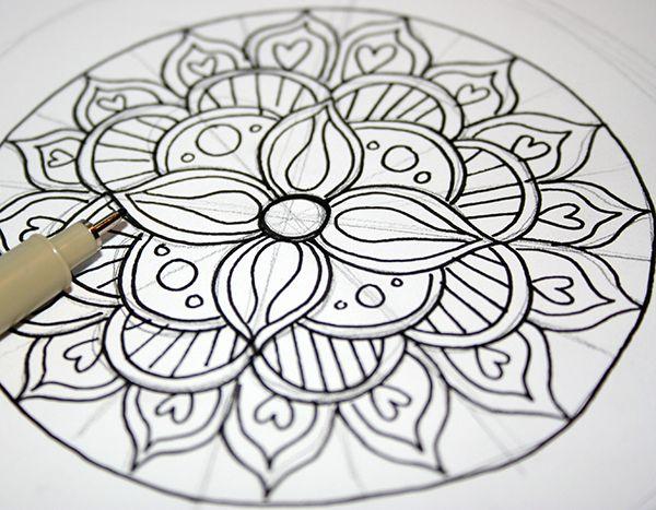 Cool Mandala Para Colorear Cool Mandalas Para Colorear De: Best 25+ Easy Mandala Drawing Ideas On Pinterest