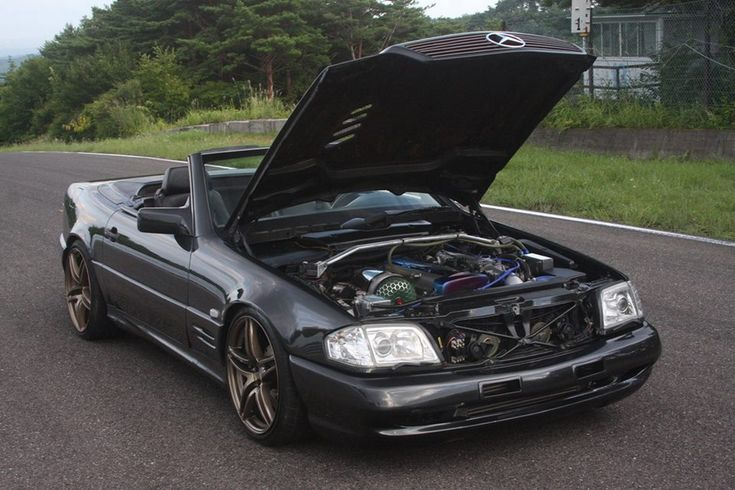 Mercedes-Benz R129 with 2JZ-GTE engine by Power Vehicles | BENZTUNING
