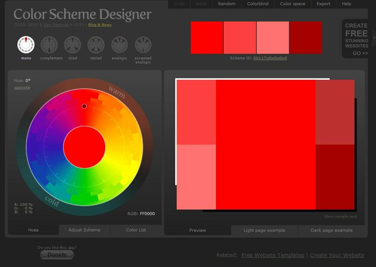 Colorschemedesigner - Great for picking out color combinations for soap/labels