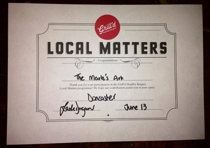Great news!! We won the Grill'd Local Matters donation program at Grill'd Doncaster this month!!! (June 2013)  Every month, Grill's donates $500 to local groups and asks their customers to decide who the money goes to!  The winner receives $300!! (The other two groups receive $100 each)