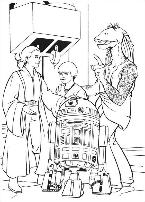being arranged a star war coloring page