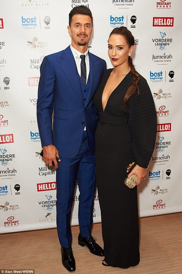 Date night: Southampton defenderJose Fonte attended the gala with his wife Cassie Sumner Fonte