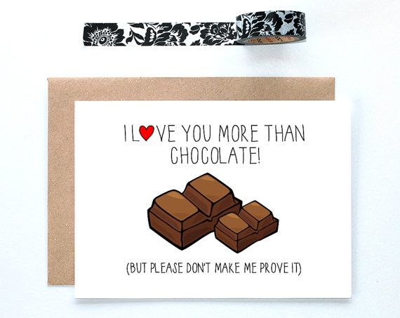 33 best lochness studio greeting cards images on pinterest card funny anniversary card i love you more than chocolate card for boyfriend love you more card funny anniversary husband chocolate card m4hsunfo Images