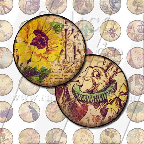 Vintage Eclectic Mix  Instant Download Digital by calicocollage, $4.15