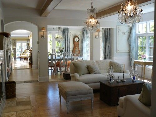 Love that clock..lovely room. traditional living room by Howard Bankston & Post: Dining Rooms, Idea, Swedish Interiors, Living Rooms Design, Open Floors Plans, Interiors Design, French Country, Traditional Living Rooms, House