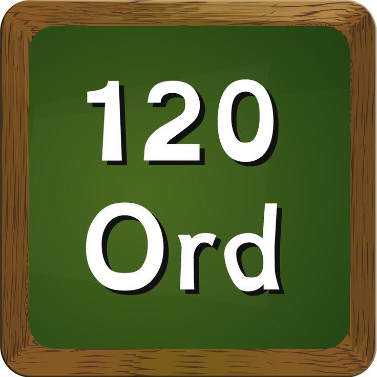 En hjælp til eleverne i indskolingens danskundervisning - de 120 hyppigste ord, som dansklærerforeningen anbefaler at dansklærere fokuserer på i undervisningen.