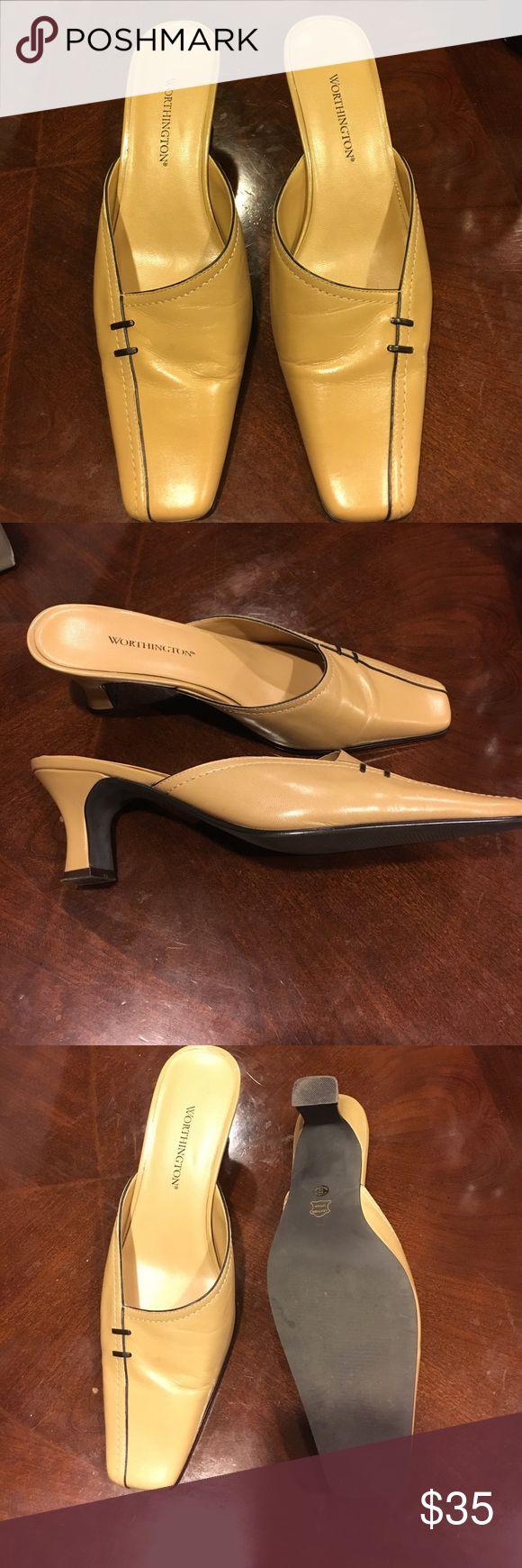 Worthington Women's Mules-Size 7 Worthington Mules-Square toe- Size 7 - Great condition Worthington Shoes Mules & Clogs