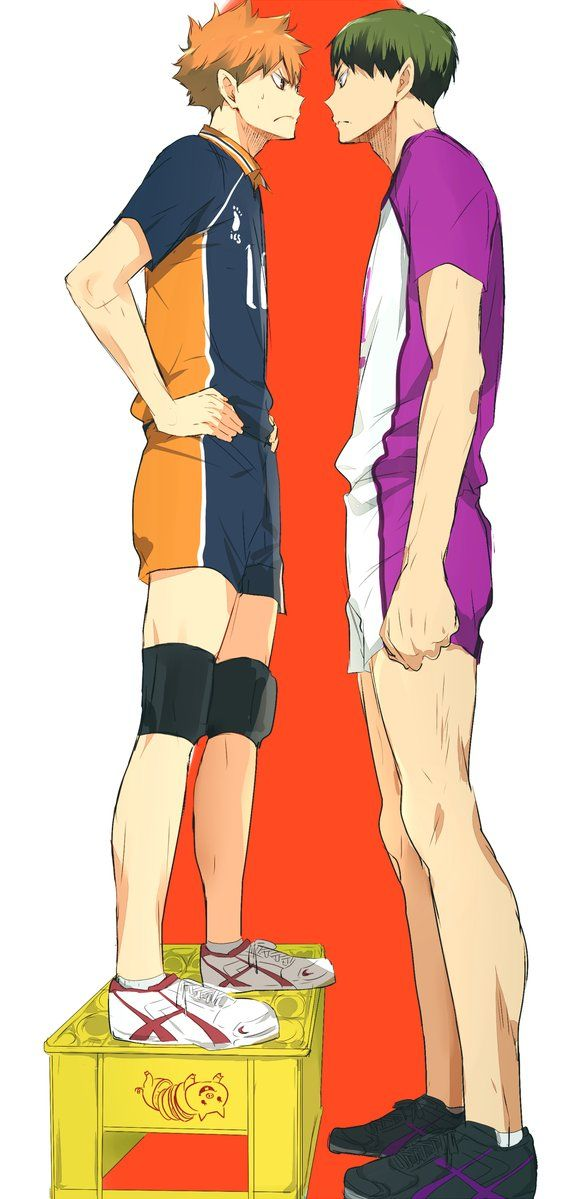 *first look* Hinata is as tall as Ushijima?! *goes down on the picture* ahhhhh