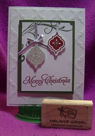 #mosaicmadness #christmascard from my recent Christmas card class Stamp-a-Stack Visit my blog for details http://inspiresharecreate.typepad.com/blog/2013/10/its-a-stampin-up-christmas.html