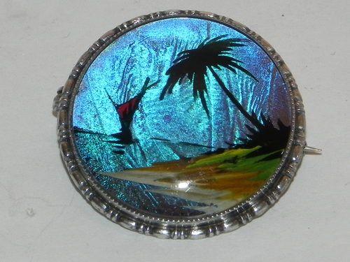 Art Deco Butterfly Wing Silver Brooch TLM Mott