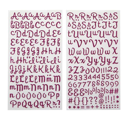 <div><div>These alphabet stickers will help you add sparkle to your stories. The fancy script fo...