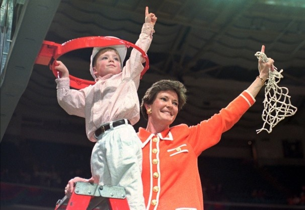 Pat Summit, who holds the NCAA record for victories in any sport, retired today after 38 seasons as women's basketball coach at the University of Tennessee.