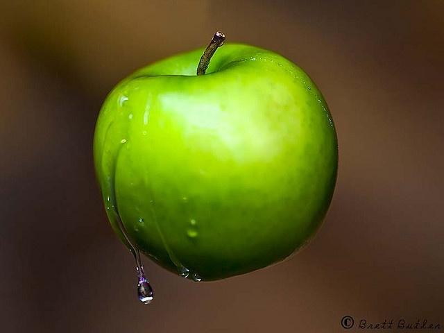 Wet Green Apple, photo by Brett Butler