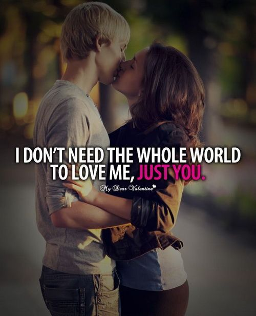 Just You - love quotes for him