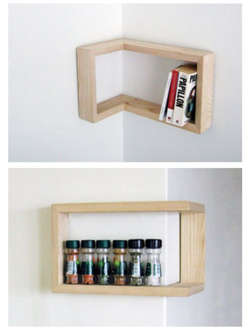 A whole new meaning to corner shelf